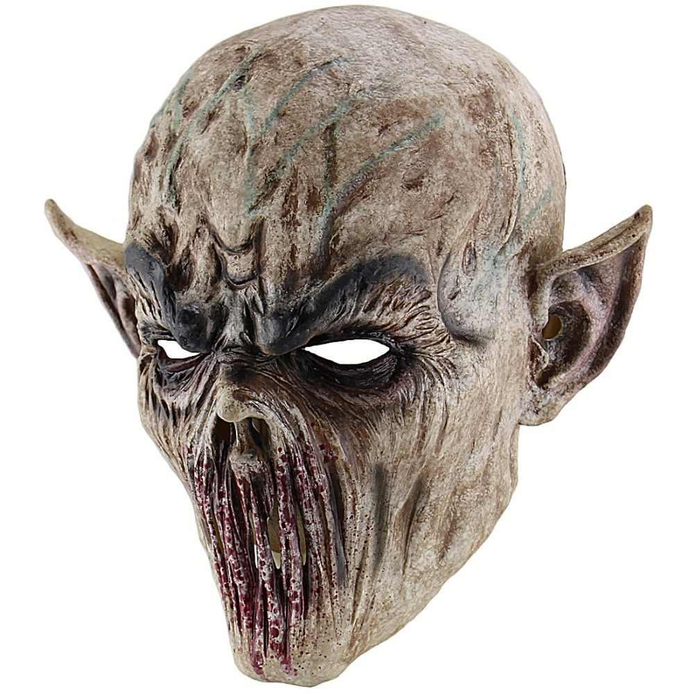 Хэллоуин кровавый ужасная пугающая маска Взрослый зомби Монстр Вампир маска латексный костюм вечерние Вечеринка полная голова Косплей Маска бутафория для маскарада
