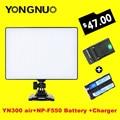 YONGNUO YN-300 YN300 Воздуха 3200 К-5500 К air Pro LED Видеокамеры Света с NP-F550 Аккумулятор и Зарядное Устройство для Canon Nikon