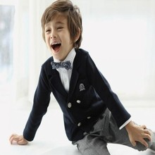 2016 new spring autumn Girls Kids boys  woven cotton double-breasted suit coat  comfortable cute baby Clothes Children Clothing
