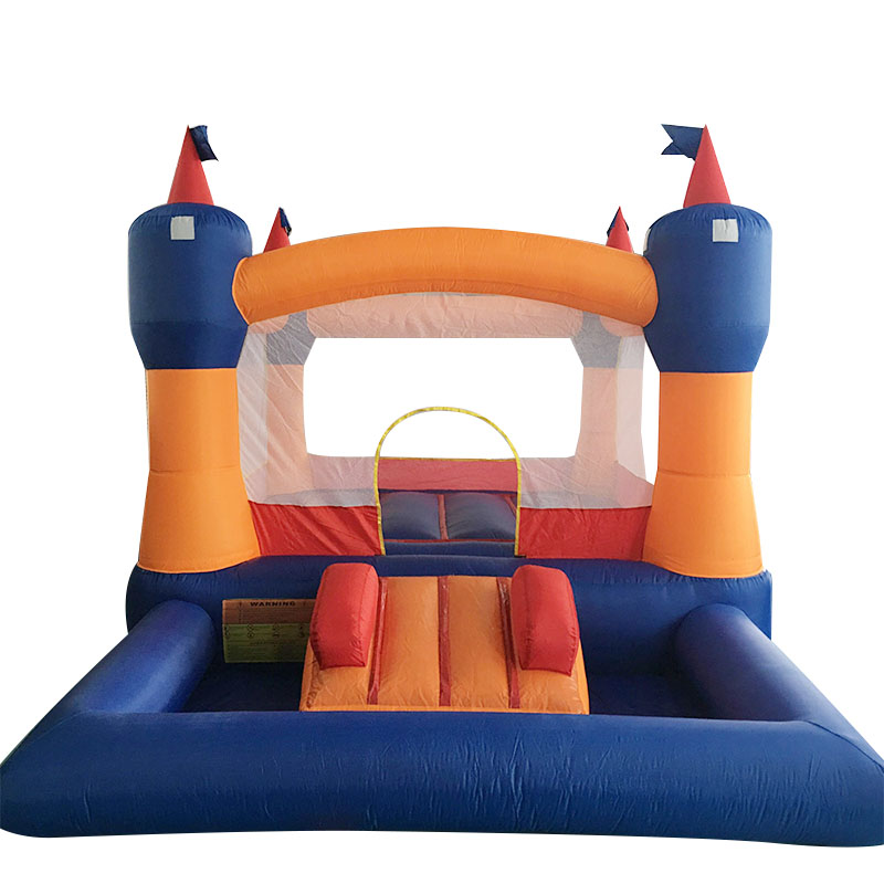 Big Size Trampoline For Kids Inflatable Bouncer With Slide Bounce House With Blower Bouncy Castle Party dhl free shipping inflatable bouncer cute sharks jumper with long slide with blower for kids