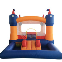 Big Size Trampoline For Kids Inflatable Bouncer With Slide Bounce House With Blower Bouncy Castle Party