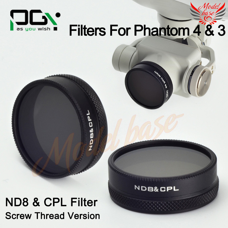 2016 NEW PGY DJI phantom4/phantom3 ND8&CPL 2in1 Multi-function AGC Optical Glass Lens Filter screw thread parts accessories