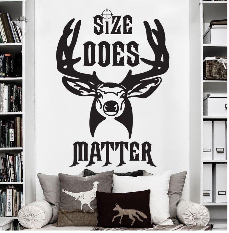 High Quality New Elk Deer Matter Hunting Antler Buck Wall <font><b>Decal</b></font> Sticker Vinyl Hunter Wall Sticker Art Mural Gift Kids Room WY-30
