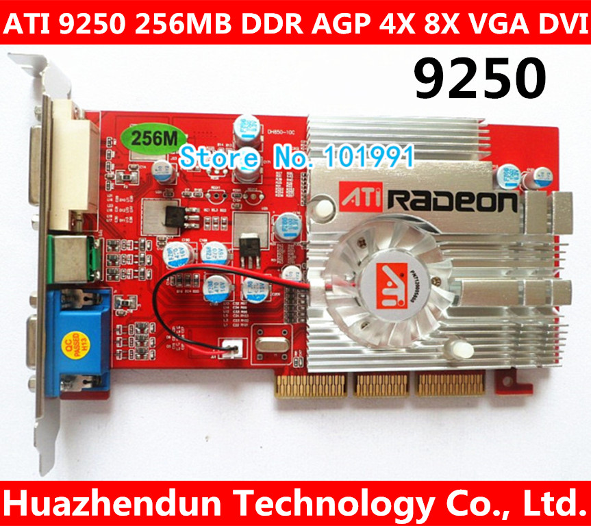 Direct from Factory NEW ATI 9250 256MB DDR AGP 4X 8X VGA DVI Video Card AGP card graphic card dhl ems free shipping new ati radeon 9550 256mb ddr2 agp 4x 8x video card from factory 50pcs lot