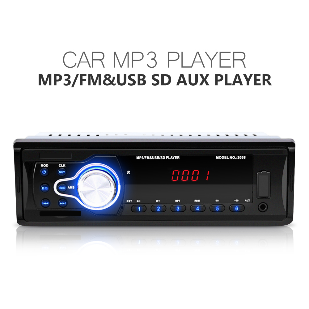 car radio 12v autos audio stereo mp3 player fm aux usb sd mmc auto electronic subwoofer in dash charger with remote control in car radios from automobiles  [ 1000 x 1000 Pixel ]
