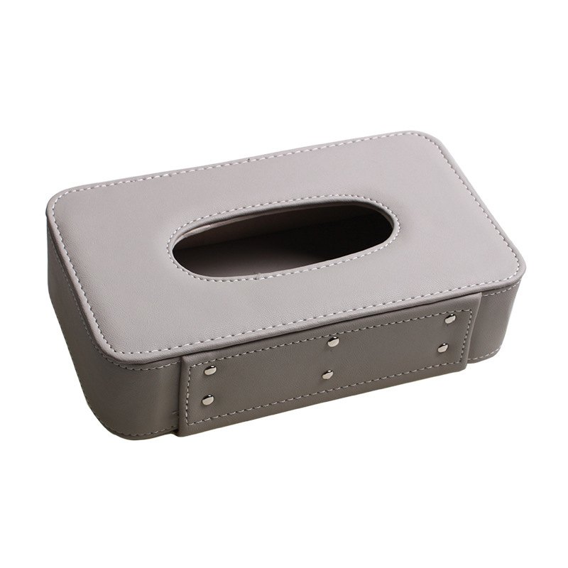 Square Car Tissue Box Cover Organizer Microfiber Leather Stowing Tidying Car styling Automobiles Accessories Interior Supplies