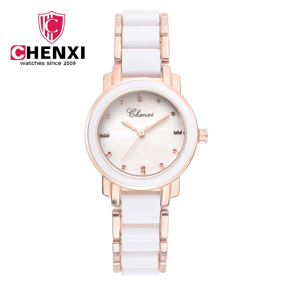 CHENXI Women Quartz Watch Waterproof Ceramic Watches Luxury Brand Dress Rose Gold Wristwatches Clock For Ladies relogio feminino chenxi fashion luxury quartz watch women dress stainless steel strap waterproof business casual ladies watches relogio feminino
