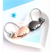 Couples Whale Fashion Keychain Trinket Key Ring Handbag Pendant Women'S Sweet Charm Gift Chaveiro Innovative Items