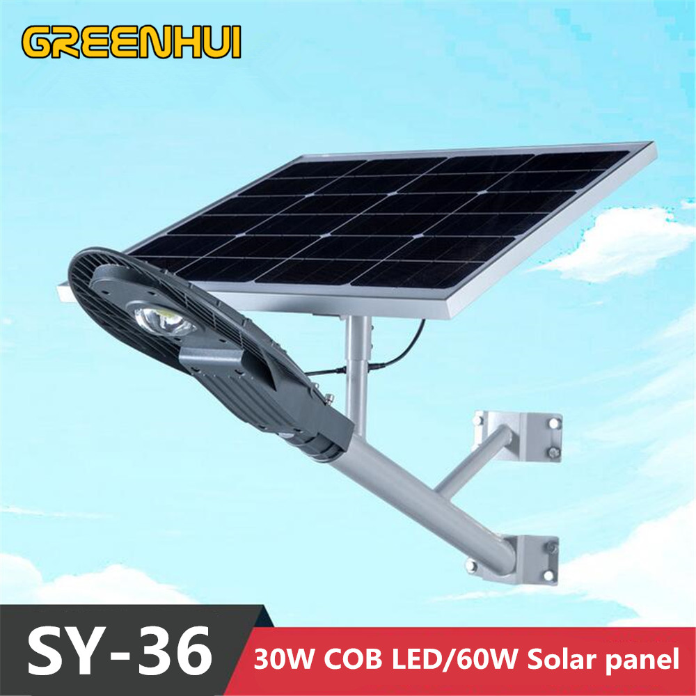 30w cob solar street light 3000lm lighttime control 12v60w solar 30w cob solar street light 3000lm lighttime control 12v60w solar panel outdoor lighting road garden light waterproof ip65 in solar lamps from lights mozeypictures Choice Image