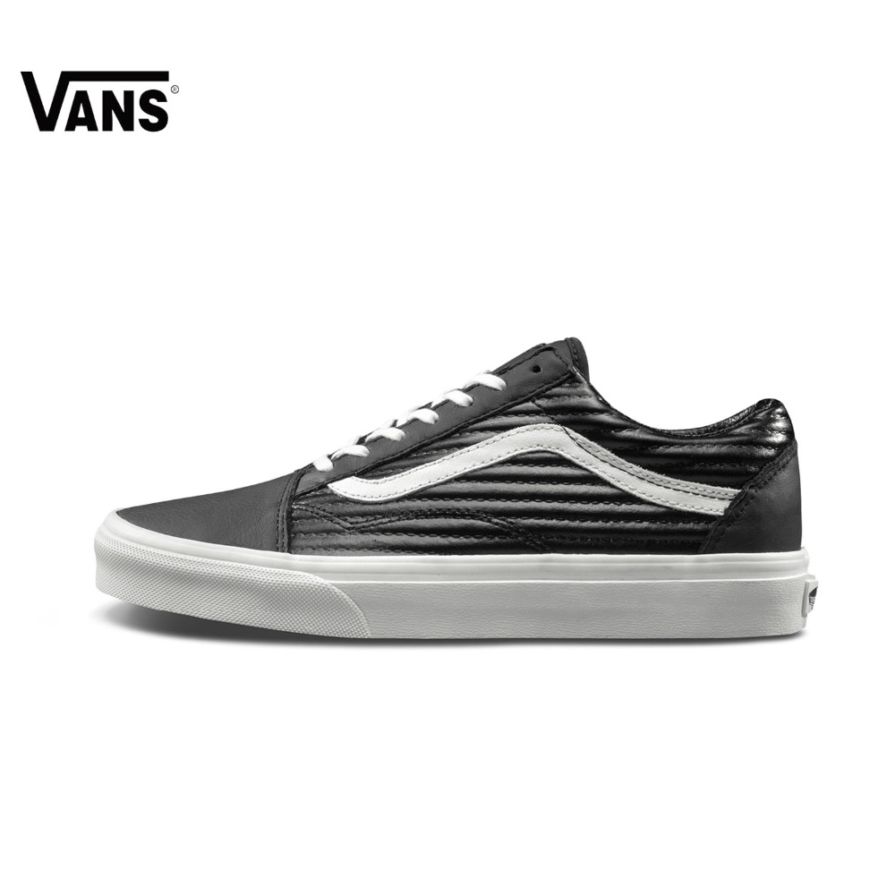 Original Vans New Arrival Black Color Men's and Women's Unisex Old Skool Low Top Skateboarding Shoes Sport Shoes Sneakers