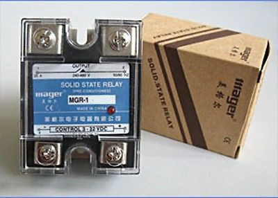 5x Solid State Relay SSR DC-AC 50A 3-32VDC/24-480VAC 3piece lot solid state relay ssr 50da 50a 250v 3 32vdc 24 380vac brand new