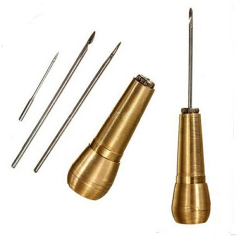 Canvas Leather Tent Sewing Awl Hand Stitcher Leather Craft Needle Kit Tool Su RI