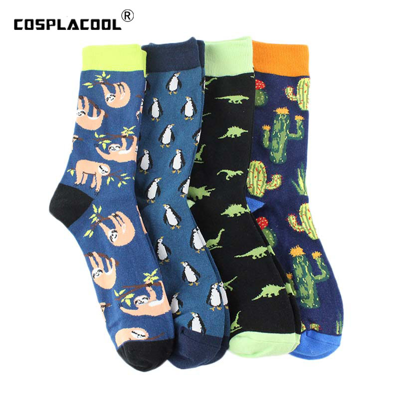 Men's Socks Popular Brand Fashion Men Socks Harajuku Hip Hop Street Skateboard Socks For Male Long Happy Socks Meias Casual Cotton Crew Socks Calcetines