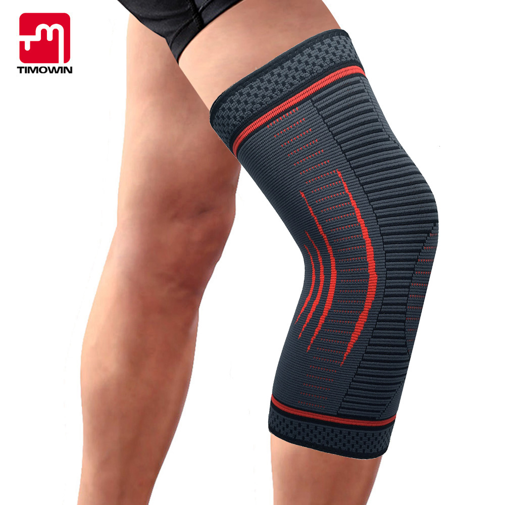 TIMOWIN 1 Piece Knee Brace, Knee Support for Running, Arthritis, Meniscus Tear, Sports, Joint Pain Relief and Injury Recovery camewin 1 pcs knee brace knee support for running arthritis meniscus tear sports joint pain relief and injury recovery