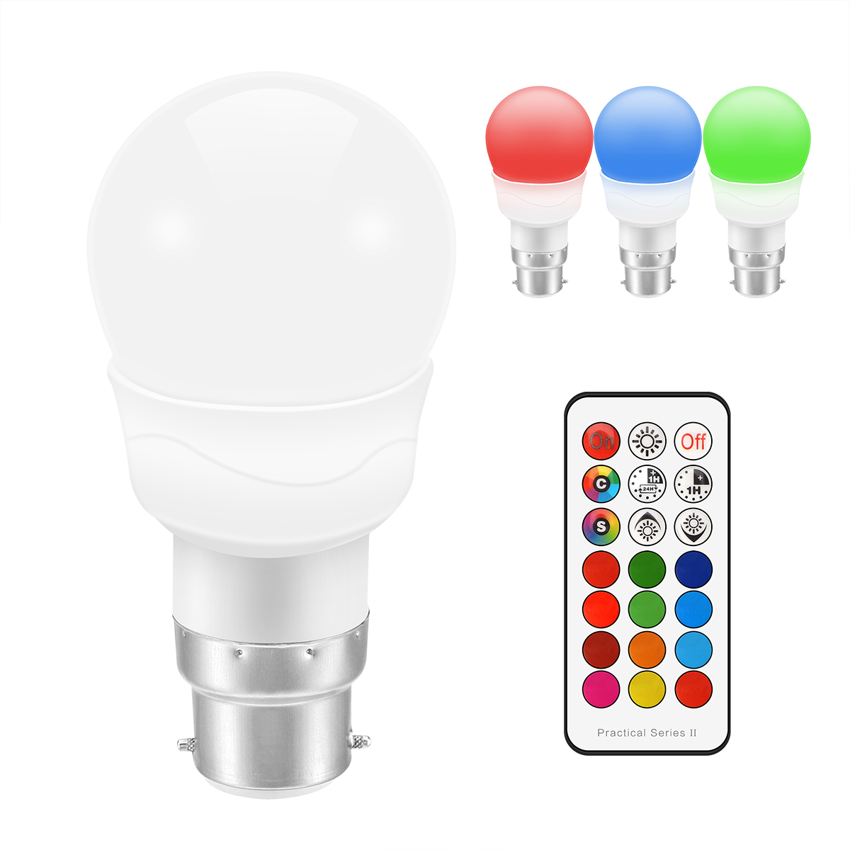 rgb led bulb e27 b22 3w rgb dimmable ampoule led smart. Black Bedroom Furniture Sets. Home Design Ideas