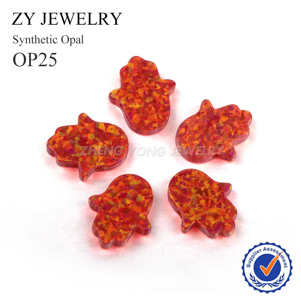 Jewelry & Accessories Beads & Jewelry Making Free Shipping 11x13mm Synthetic Fatima Hand Opal Op25 Loose Hamsa Opal Beads For Jewelry Exquisite Craftsmanship;