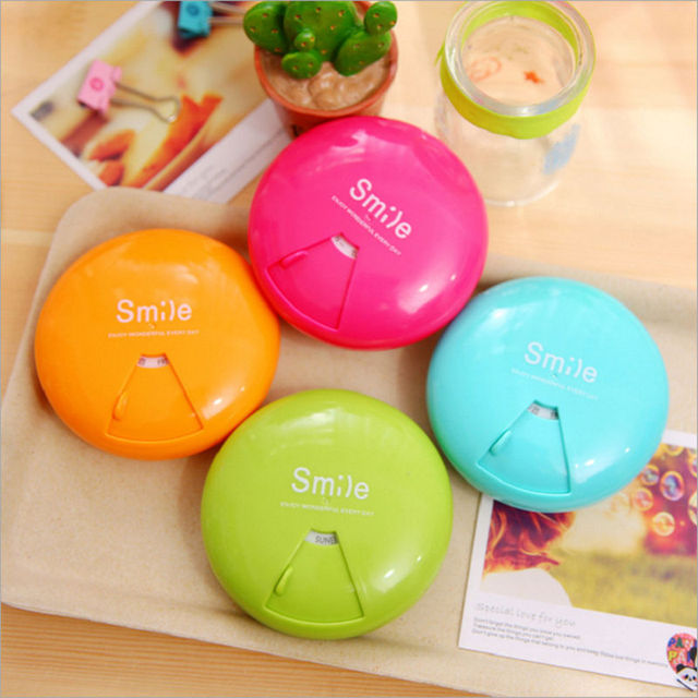 7Slots Mini-Plastic Tabletnitsa Fashion Rotate Container For Medicines Portable Candy Color 7 Days Pill Case For Tablet