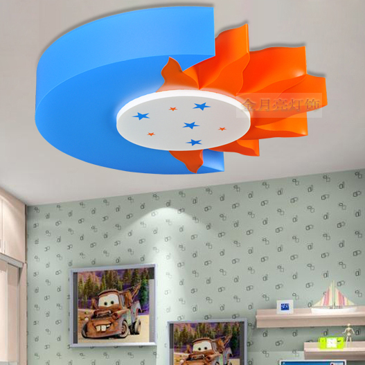 Cartoon Childrenu0027s Room Lamp Led Ceiling Lights Kids Boys And Girls Bedroom Room  Lights Sun And Moon Lighting Fixtures