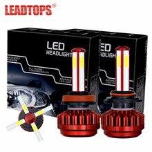 LEADTOPS Car Headlights H7 H11 LED H4 9005/HB3 9006/HB4 80W 8000Lm Mini Auto Fog Lighting Replacement Bulbs 6000K 12V CJ