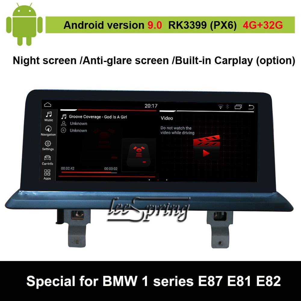 Lecteur Audio de voiture Android 9.0 Vdieo pour BMW série 1 E87 E88 E81 E82 écran d'origine de voiture à mettre à niveau