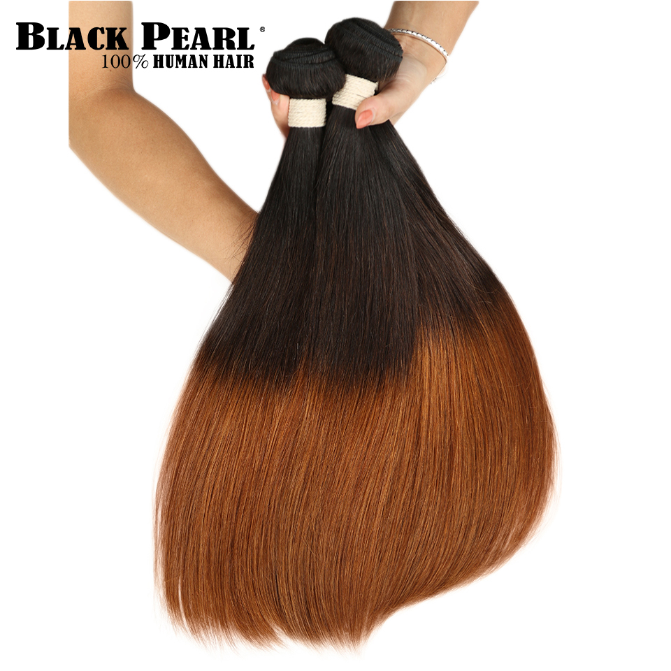 Hair Extensions & Wigs Faithful Black Pearl Ombre Brazilian Straight Hair 1/3 Bundle 1b/4/30 Non Remy Hair Weave Bundles 100% Human Hair Extensions Hair Weaving