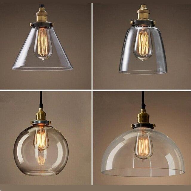 Nieuwe retro glazen Plafond lampen led lampen woonkamer eetkamer ...