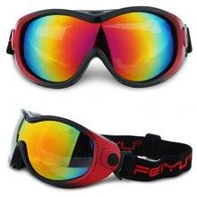 цена на Children Professional Ski Goggles Kids Lens  anti-fog  Glasses Snow Skiing Eyewear  Girls Boys Snowboard goggles