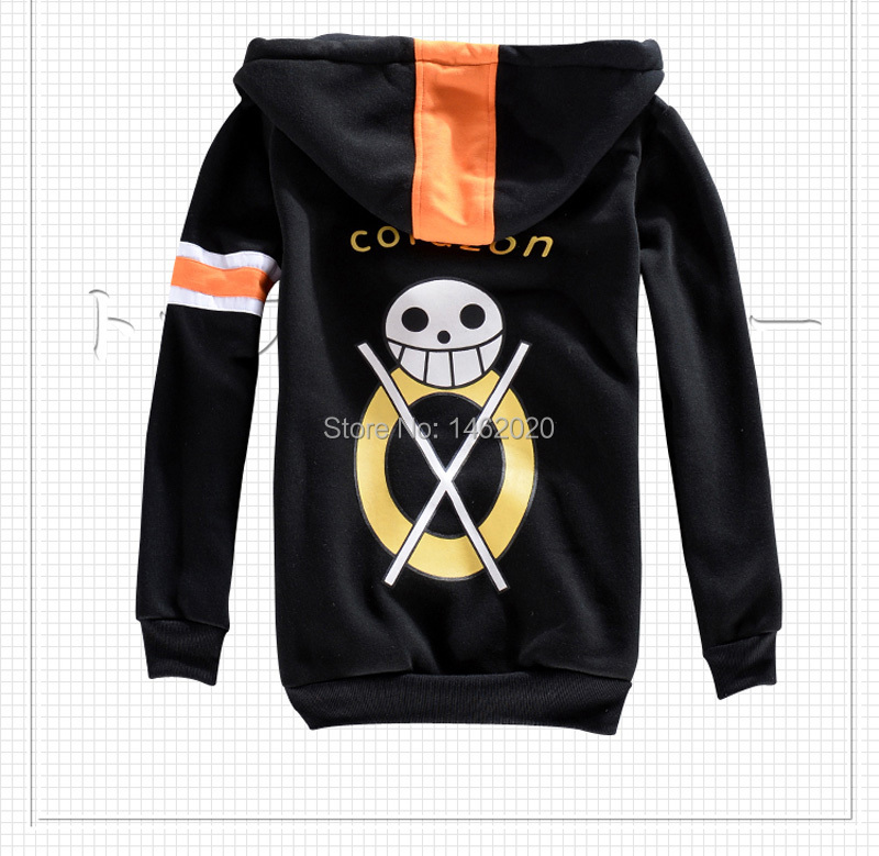 95f5afe30977 One Piece Trafalgar Law Time Skip Dressrosa Cosplay Unisex Hooded Jacket  Sweater two years later Cardigan Zipper Hoodie Costume-in Anime Costumes  from ...
