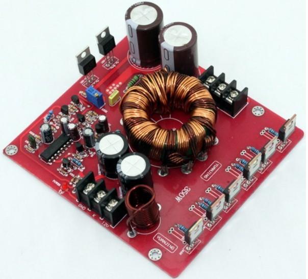 12VDC impulso para +/-20-32VDC 350 w fonte de alimentação para carro amplificador LM3886 TDA7294 TDA7293 +/-Tensão de saída ajustada 20-32VDC 30%