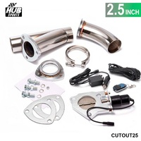 2.5 INCH EXHAUST CUTOUT ELECTRIC DUMP Y PIPE CATBACK CAT BACK TURBO BYPASS STEEL For Toyota Corolla 1.8 HU CUTOUT25
