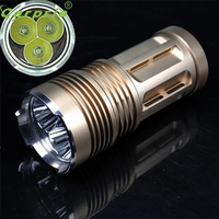 Super 6000 LM 3x XM L T6 LED 18650 Tactical Flashlight Torch Hunting Lamp Light 170130
