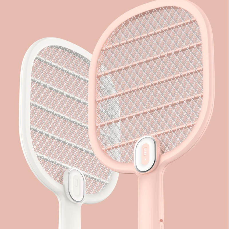 Image 2 - Xiaomi Mijia Electric Mosquito Swatter Rechargeable LED Electric Insect Bug Fly Mosquito Dispeller Killer Racket 3 Layer Net H30-in Smart Remote Control from Consumer Electronics