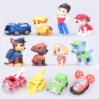 12pcs Set PAW Patrol Dog Canine Anime Doll Action Figures Car Puppy Toy Patrulla Canina Juguetes