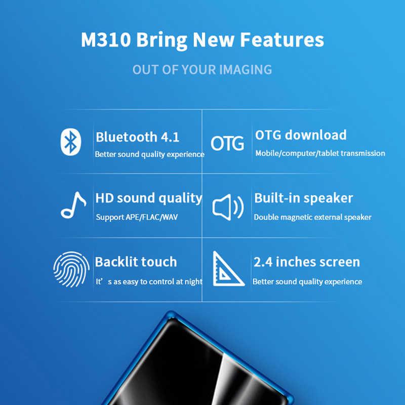マハディ M310 MP3 プレーヤー Bluetooth タッチスクリーン 2.4 インチミニポータブル音楽プレーヤー 8 ギガバイト超薄型 MP3 プレーヤー FM ラジオ電子書籍
