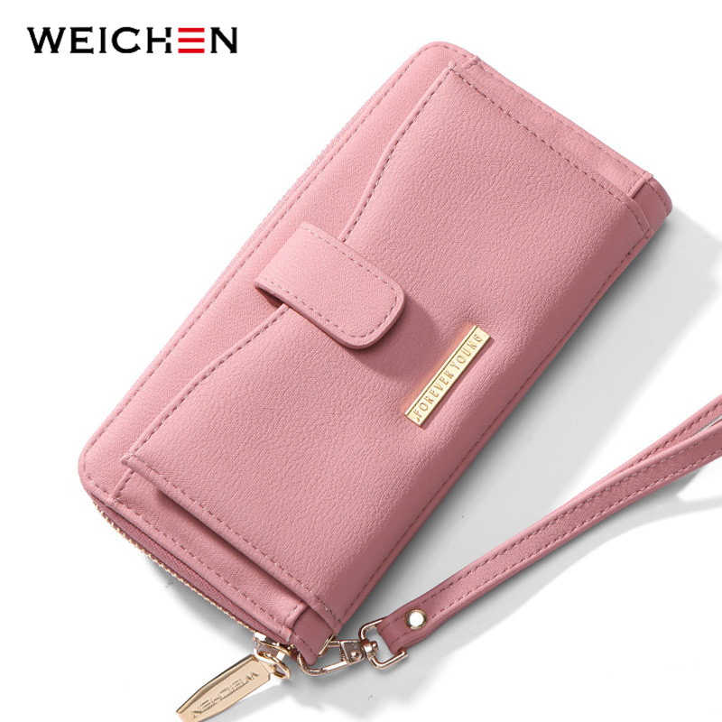 WEICHEN Female Wallets Cell-Phone-Pocket Wristlet Clutch Long-Purse Many Ladies Card-Holder