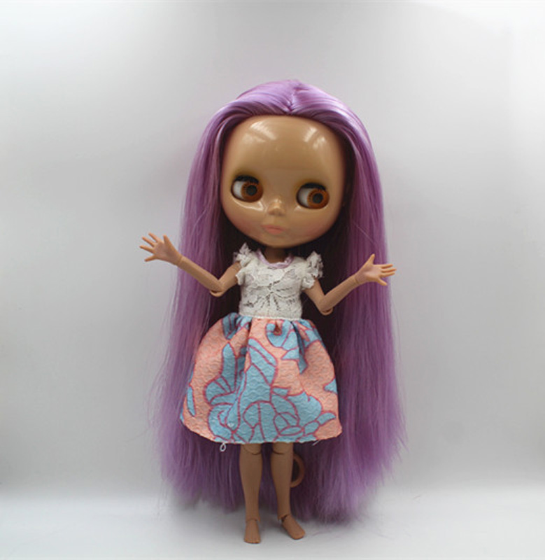 Free Shipping BJD joint RBL-408J DIY Nude Blyth doll birthday gift for girl 4 colour big eyes dolls with beautiful Hair cute toyFree Shipping BJD joint RBL-408J DIY Nude Blyth doll birthday gift for girl 4 colour big eyes dolls with beautiful Hair cute toy