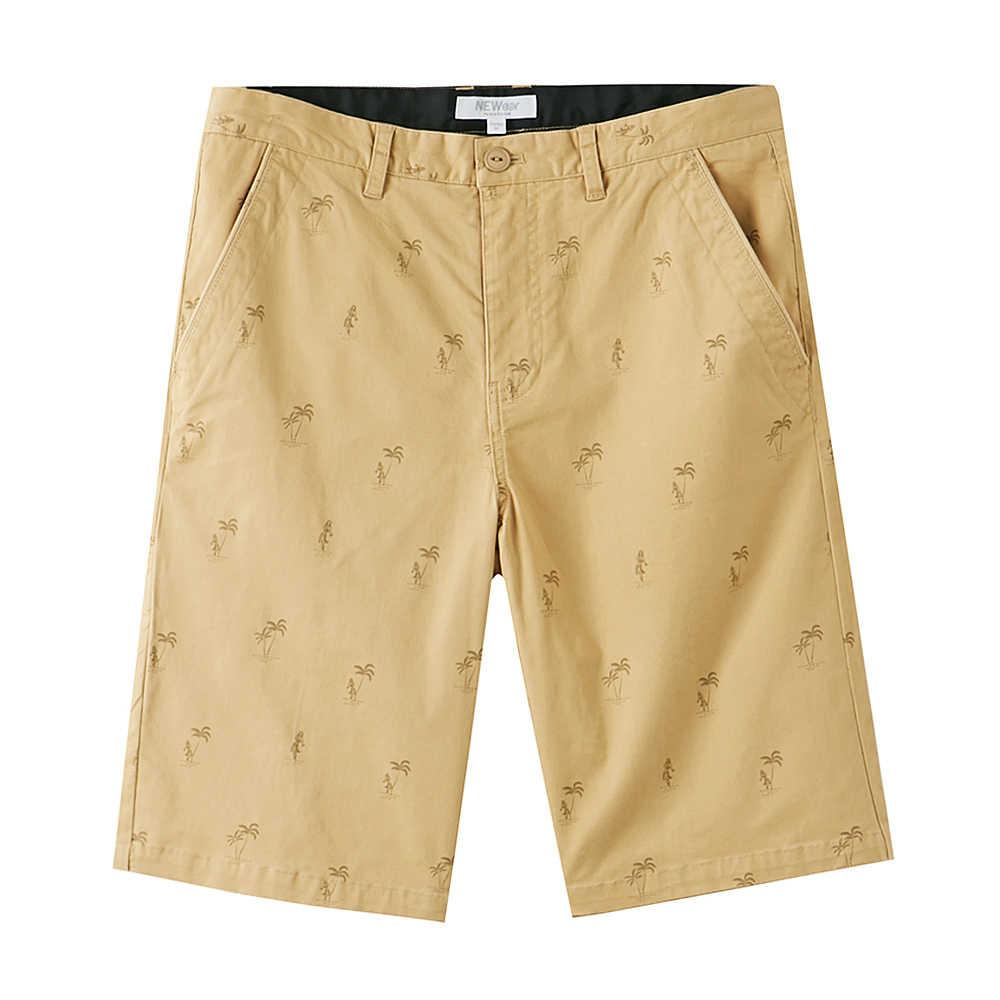 Metersbonwe erkek yaz rahat kısa pantolon pamuk moda hindistan cevizi ağacı baskı gevşek şort nefes rahat pantolon