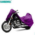 Purple L XXXL Motorcycle Cover Waterproof Dustproof Cover Sportster Touring Bike Cruiser For Harley Suzuki Honda Winter Summer
