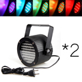 DMX Voice Controled 2 PC  86 RGB LED Stage Light Disco DJ Party Show Projector Lighting Effect for Christmas decoration