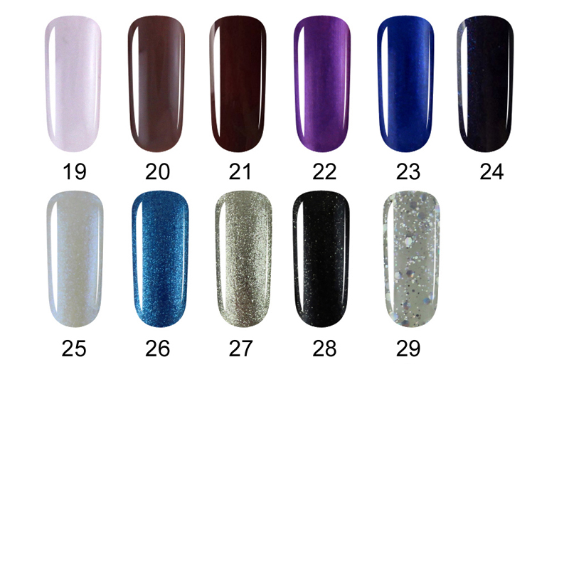 Huration Gel Lacquer 29 High Quality Color UV Nail Polish Lucky Gel Soak Off UV LED Lamp Gel Polish French Manicure Gel Varnish
