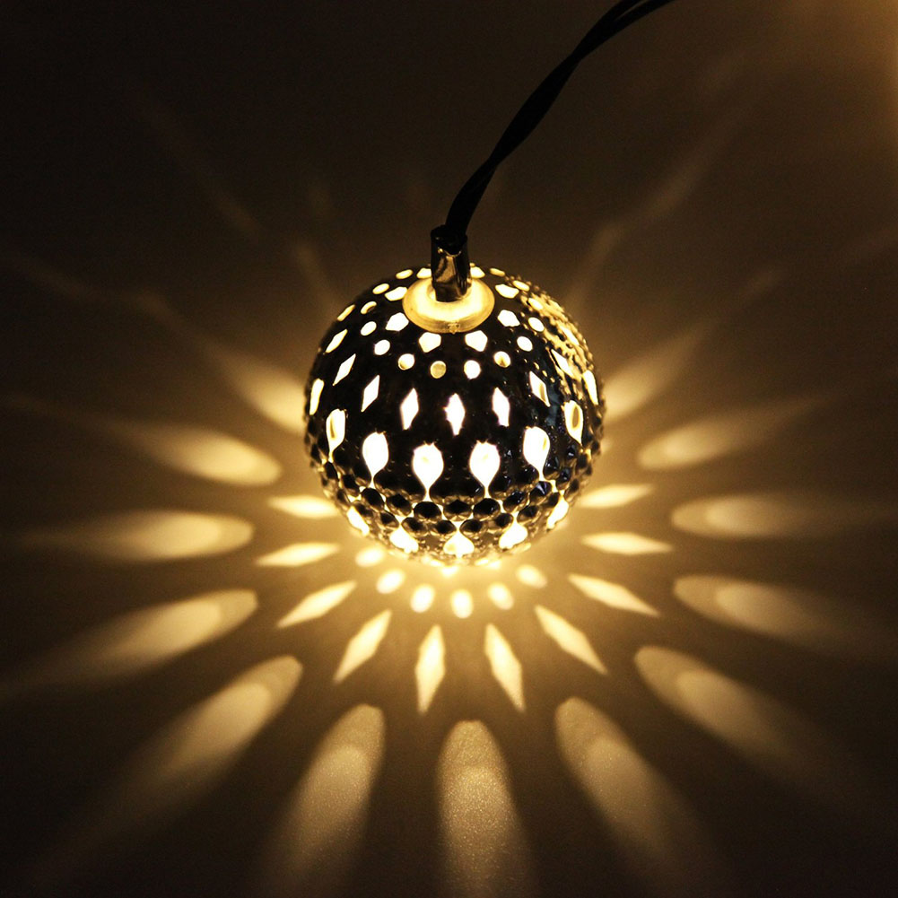 2016 10Led Moroccan Solar String Lanterns Led Fairy Lights Garden