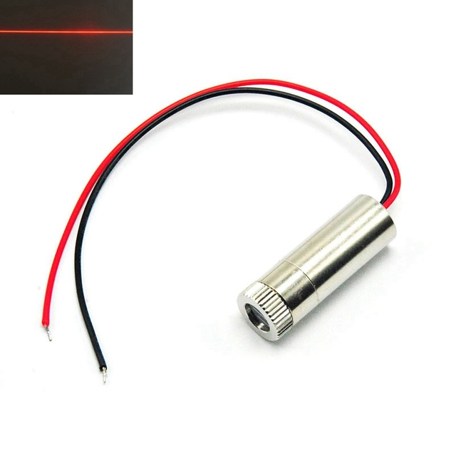 Line Beam Red Laser Lights 650nm 30mw Focusable DIY Head Module 12mm*30mm Positioning