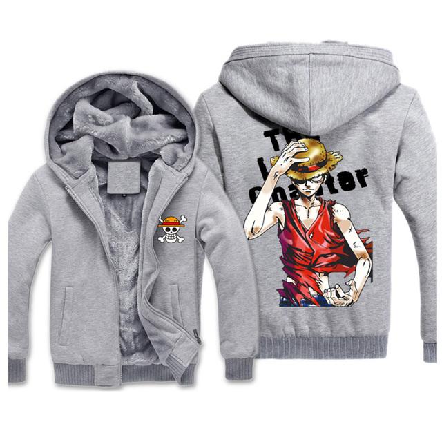 One Piece Fashion Winter Sweatshirt Hoodies For Men