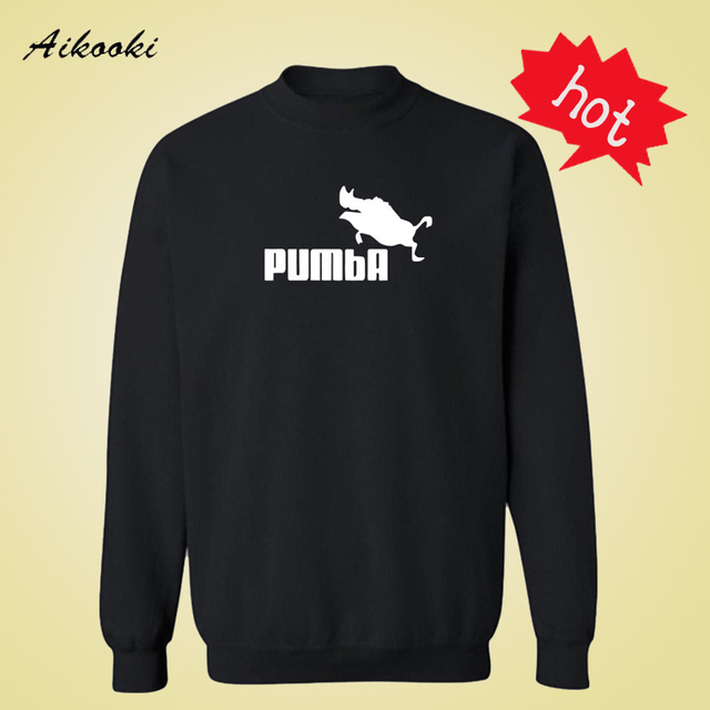 New Pumba 3xl Black/White/Gray Long Sleeve Hoodies Men Autumn Winter Cotton in Fashion Design Hoodie and Sweatshirts Aikooki