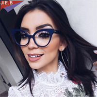 89d3f4e897 ... de gato gafas ópticas marco marca femenina lujo mujeres Retro. 2018 New  Ladies Vintage Sexy Cat Eye Optical Glasses Frame Female Brand Luxury  Eyeglasses ...