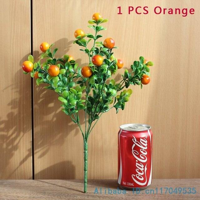 1 PCS Bella Artificiale di Plastica Bush Rosso Berry Pianta Verde di Nozze Decorazione Della Casa Regalo F219
