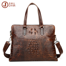 2017 Fashion Designer Genuine Leather Crossbody Bags For Men High Quality Handmade Crocodile Leather big capita Shoulder Bag Sac