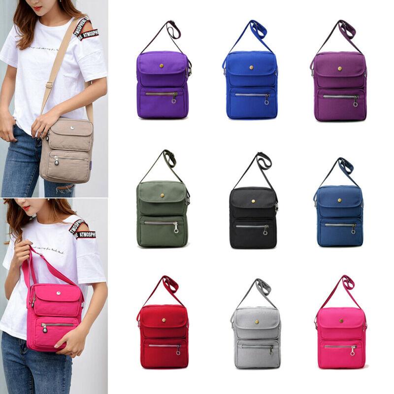 Women Multi layer Messenger Bags Ladies Waterproof Solid Nylon Crossbody Bags Bolsas Femininas Multifunction Shoulder Bags in Top Handle Bags from Luggage Bags