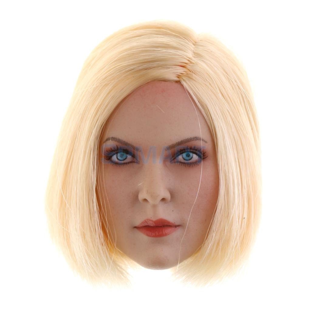 все цены на 1/6 Scale Western Blonde Short Hair Pretty Girl Head Sculpt Accessories for 12'' Action Figure Hot Toy Phicen Kumik Female Body онлайн