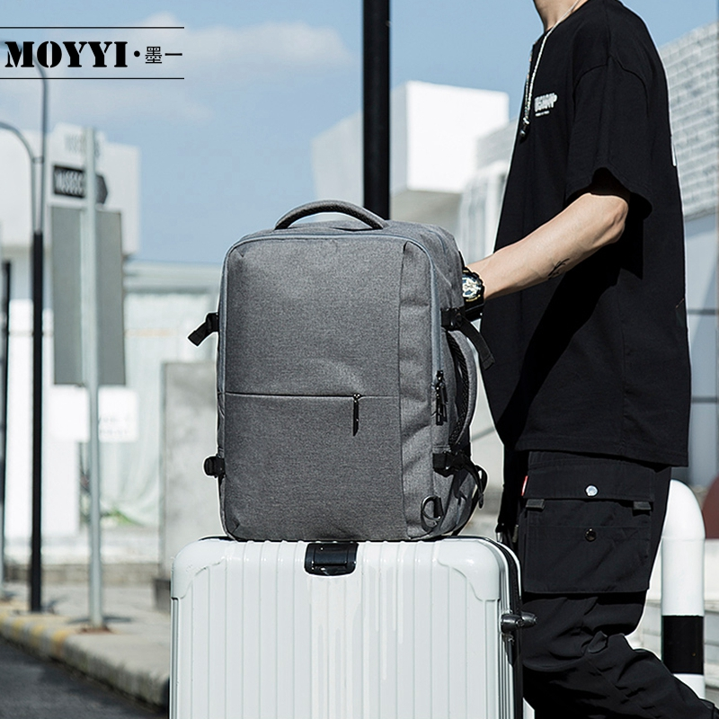 MOYYI Business Travel Double Compartment Backpacks Multi Layer with Unique Digital Bag for 15 6 inch
